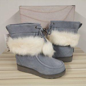 Bearpaw Arden Suede Wool Sheepskin Boots